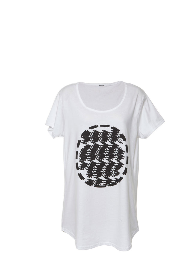 Geometric Grid T-Shirt by Saima from Curator of Crafts