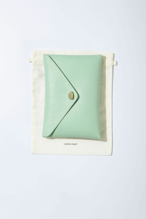 Simple Leather Clutch Bag - Copper by Lucie Cast from Curator of Crafts