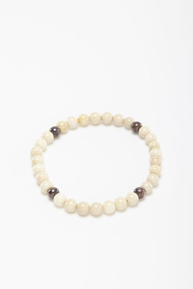 White sea coral bead bracelet from Curator of Craft
