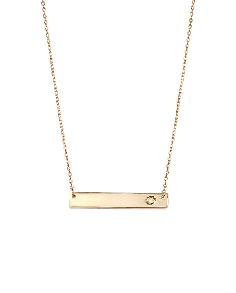 Initial Bar Necklace -D - BANSRI                                                                 Jewelry Lounge