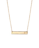 Initial Bar Necklace -T - BANSRI                                                                 Jewelry Lounge