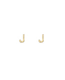 Initial J Earrings - BANSRI                                                                 Jewelry Lounge