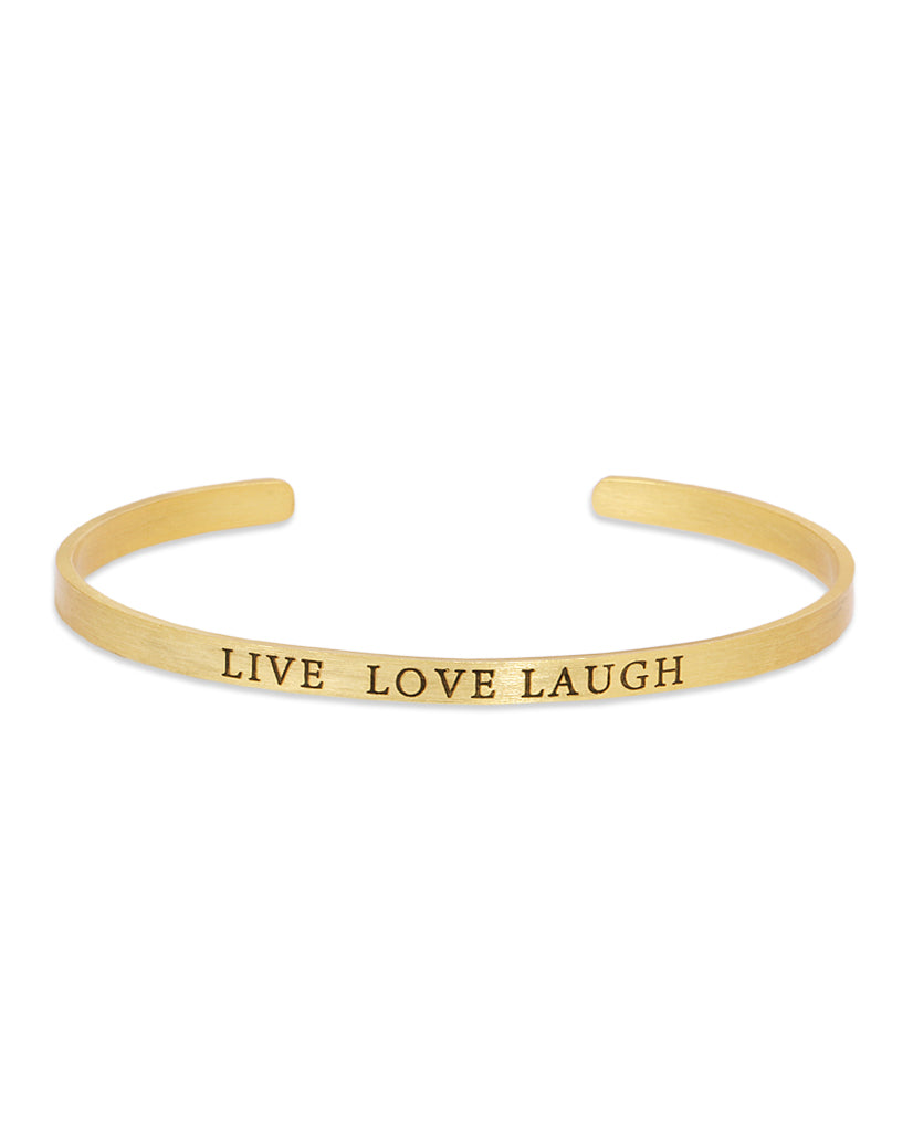 Live Love Laugh Bracelet in 18K Gold