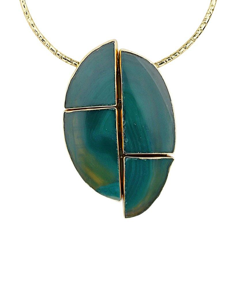 Geode Cut Geometric Collar Statement Necklace - BANSRI                                                                 Jewelry Lounge