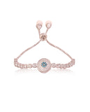 Evil Eye Tennis Bracelet in Silver with Swarovski Crystals
