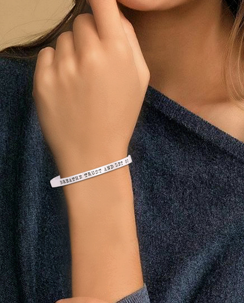 Breathe Trust and Let Go Bracelet