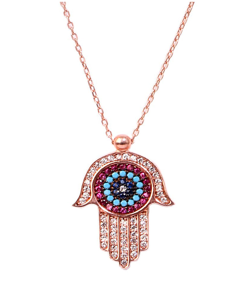 Hamsa Multi Necklace - BANSRI                                                                 Jewelry Lounge