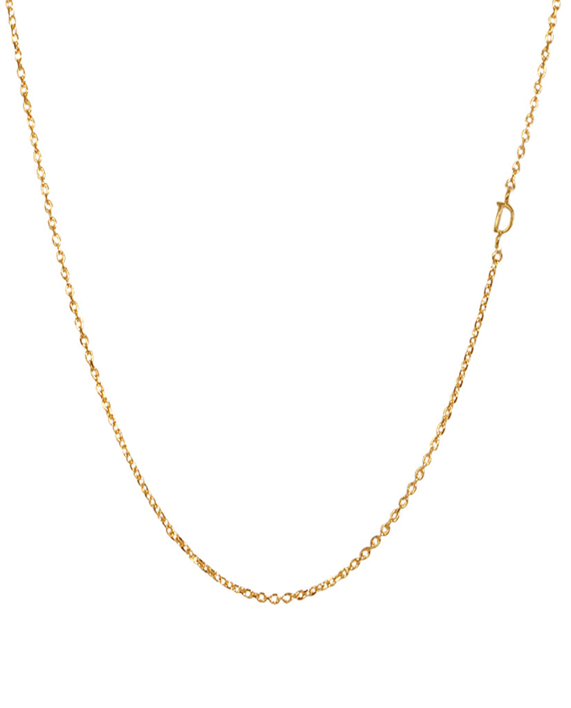 Initial D Necklace with 18K Gold Plating