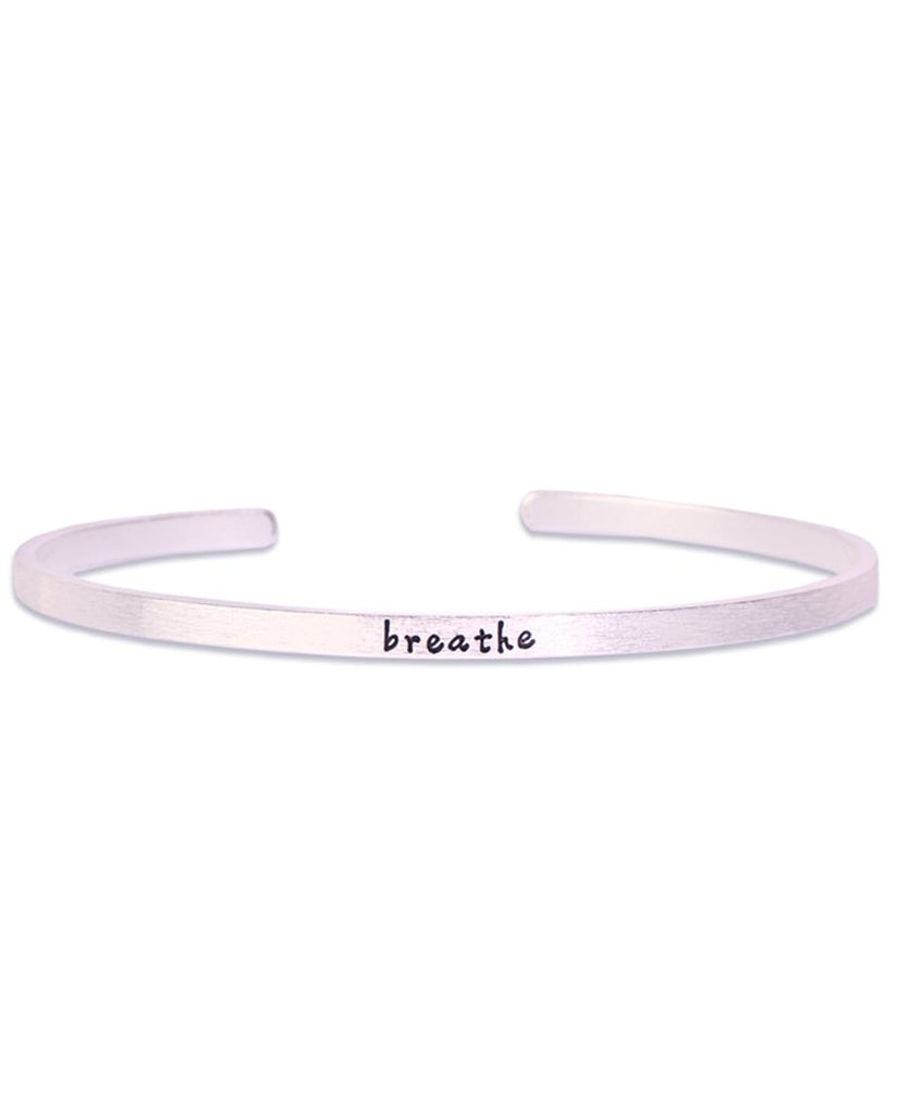 Silver Breathe Bracelet in 18K Gold