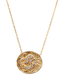 Om Necklace in Gold with Swarovski Crystals