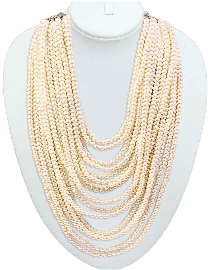 Gold finish multiple chain necklace - BANSRI                                                                 Jewelry Lounge