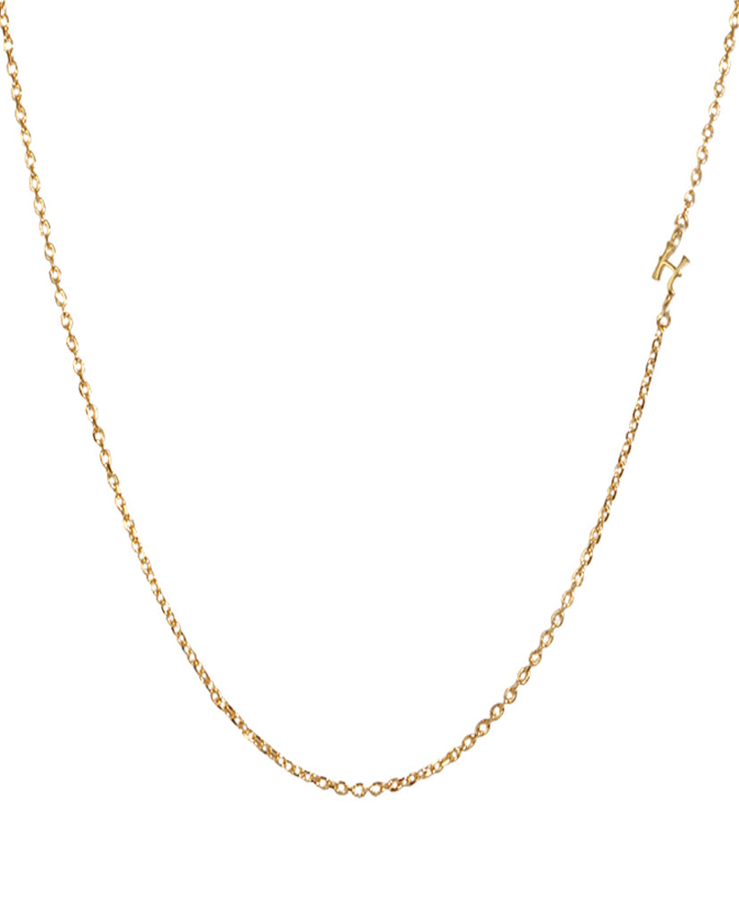 Initial H Necklace with 18K Gold Plating
