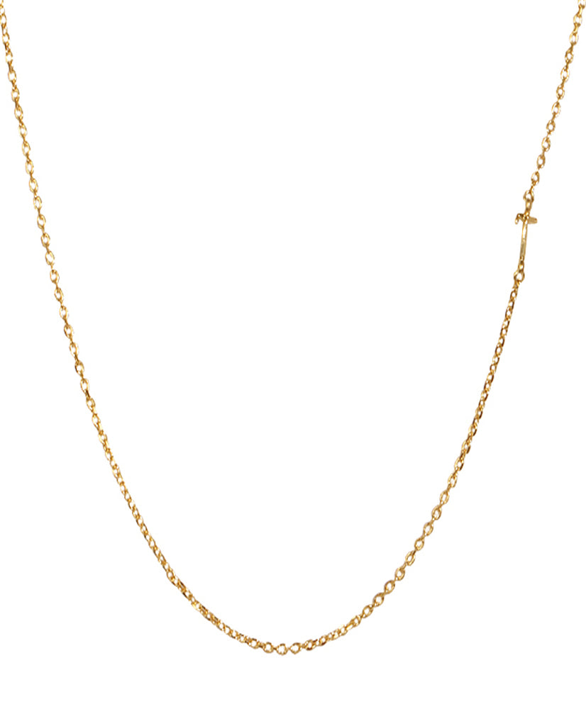 Initial T Necklace with 18K Gold Plating