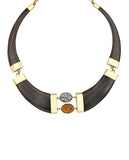 Ebony Wood Collar Necklace - BANSRI                                                                 Jewelry Lounge