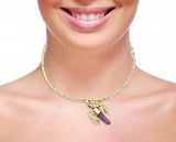 Bumble Bee Collar Necklace in Amethyst Quartz and 18K Gold