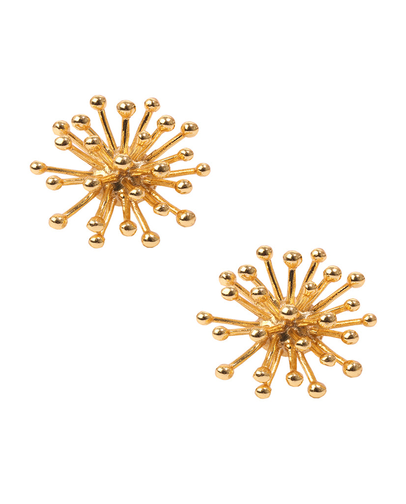 Starburst Stud Earrings in 18K Gold