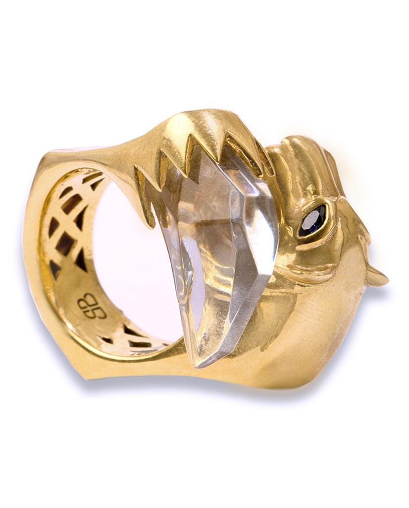 Panther Face Ring - BANSRI                                                                 Jewelry Lounge