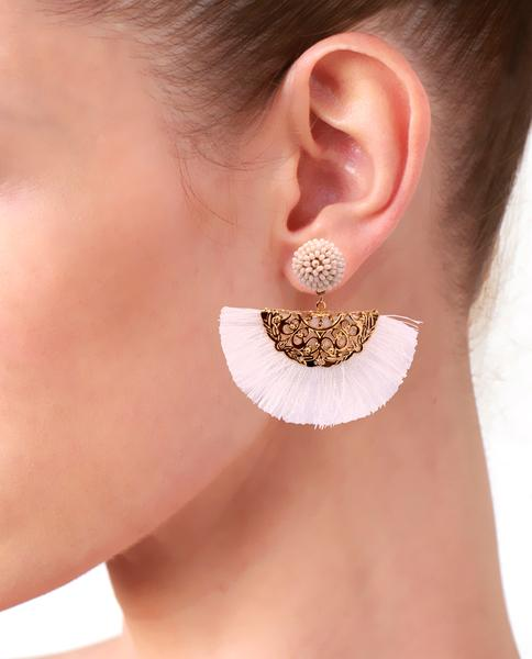 Dahlia Tassel Fan Earrings