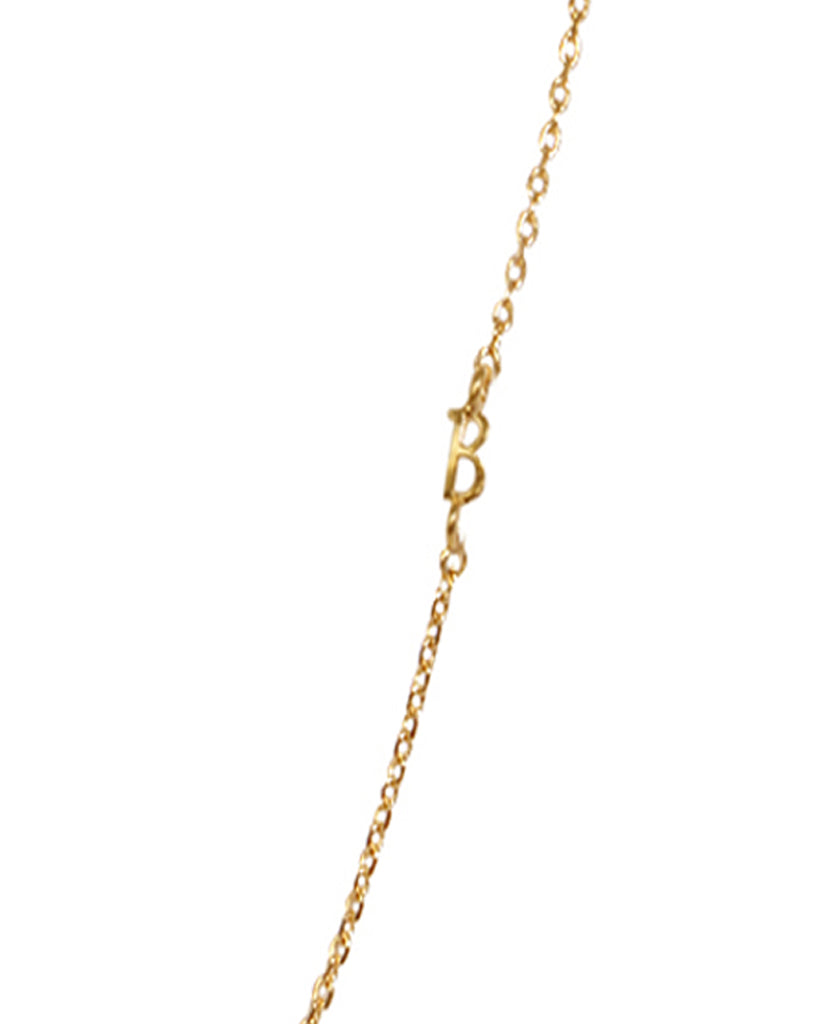 Initial B Necklace with 18K Gold Plating