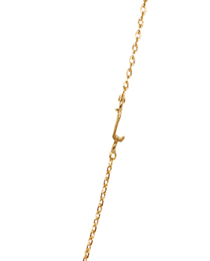 Initial L Necklace with 18K Gold Plating