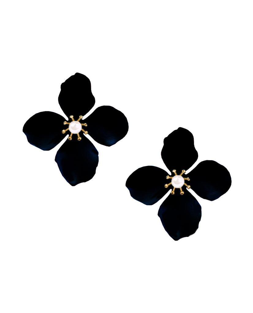 Amelia Flower Stud Earrings - BANSRI                                                                 Jewelry Lounge