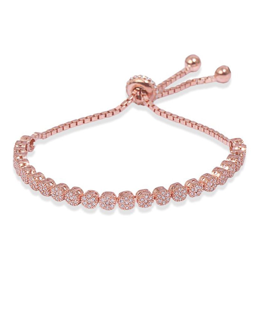 Mini Tennis Rose Gold Bracelet with Swarovski Crystals