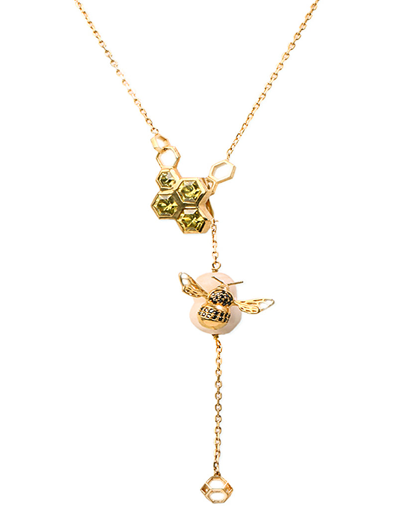Bumble Bee Long Necklace - Bansri Mehta Design