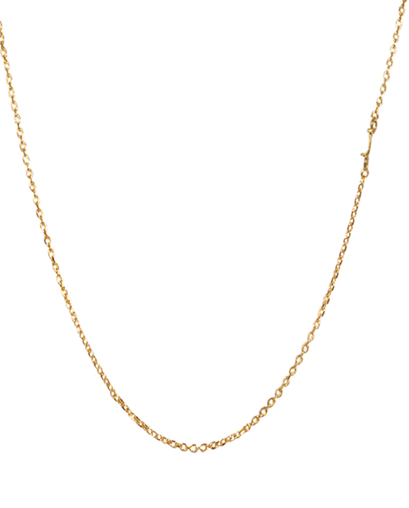 Initial J Necklace with 18K Gold Plating