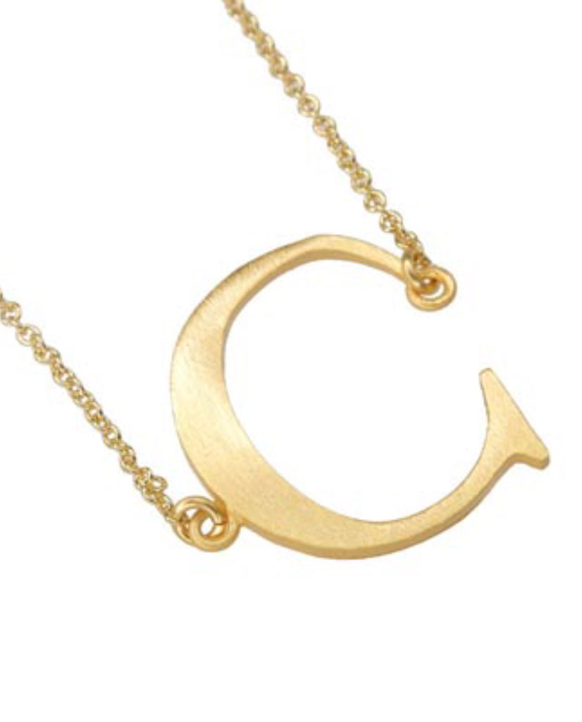 Initial 'C' Necklace