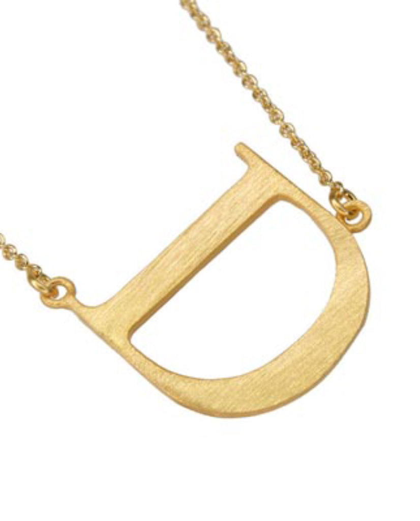 Initial 'D' Necklace