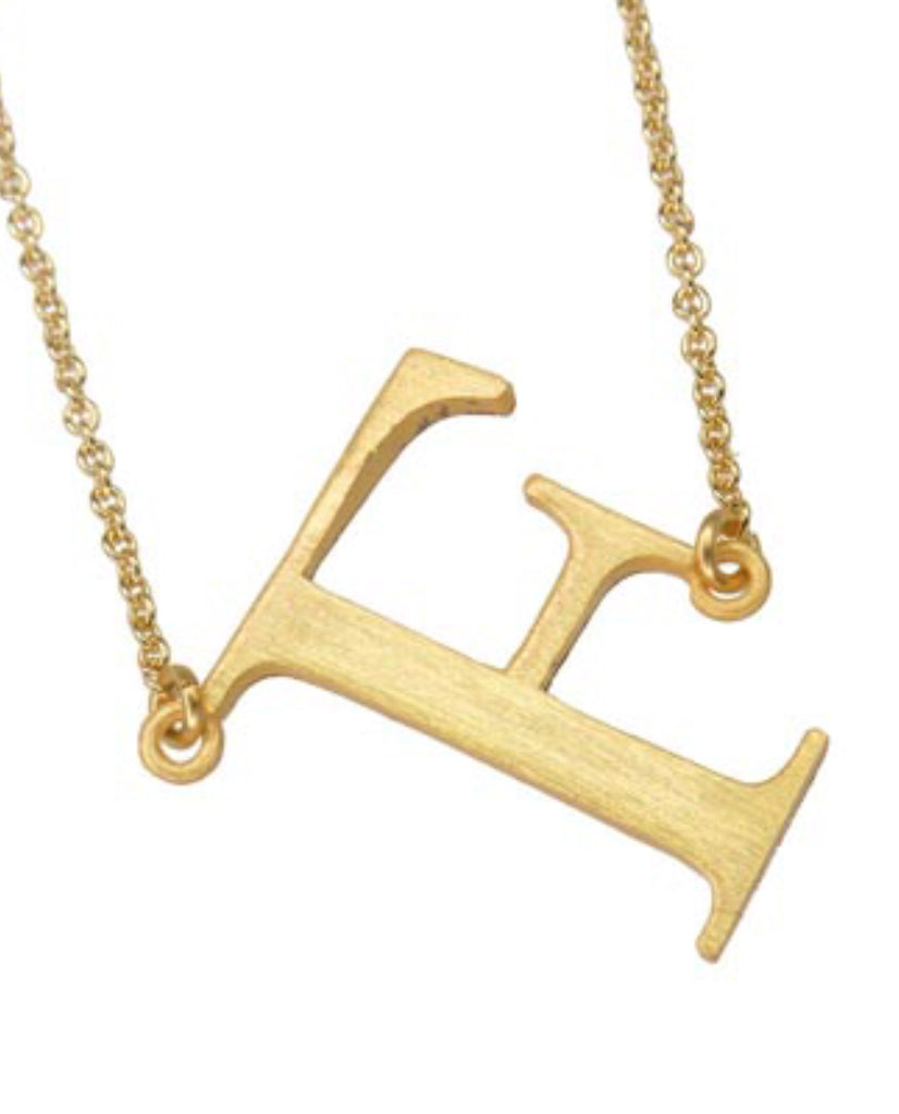 Initial 'F' Necklace