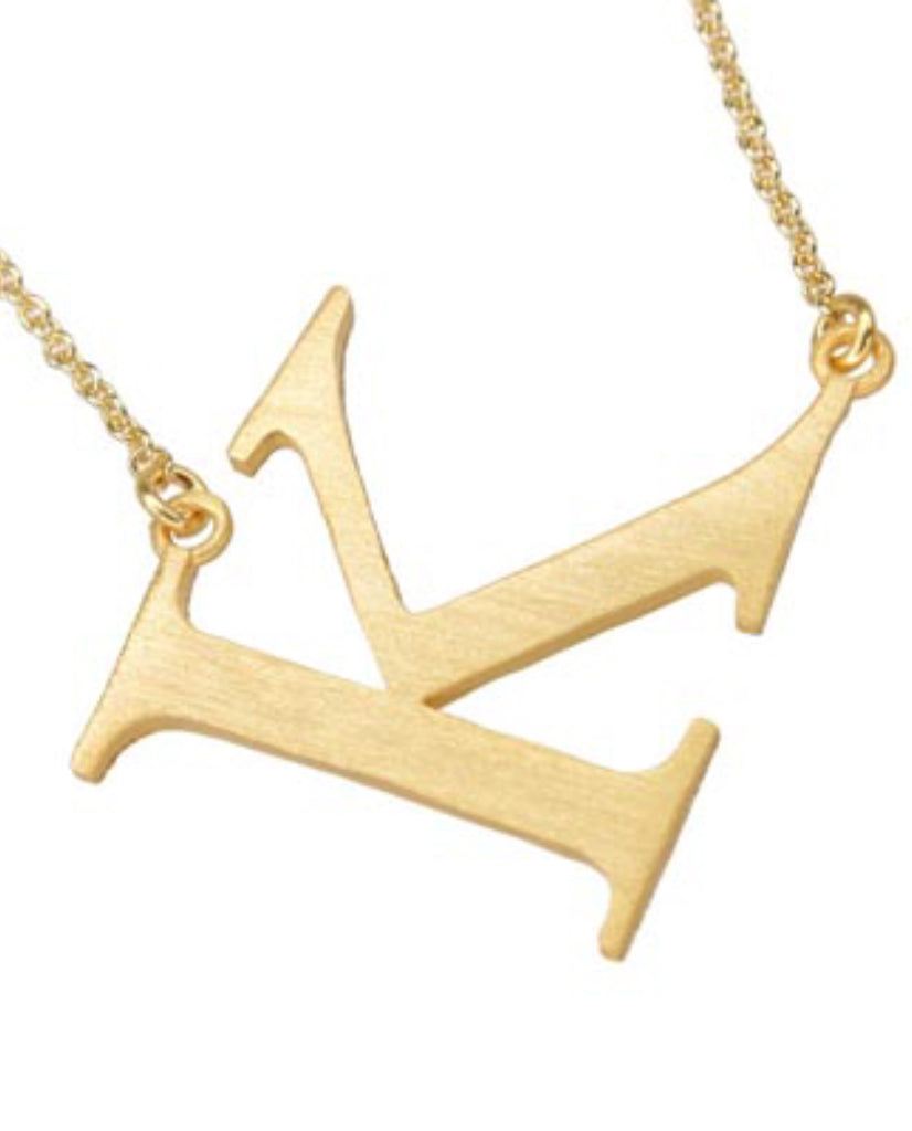Initial 'K' Necklace