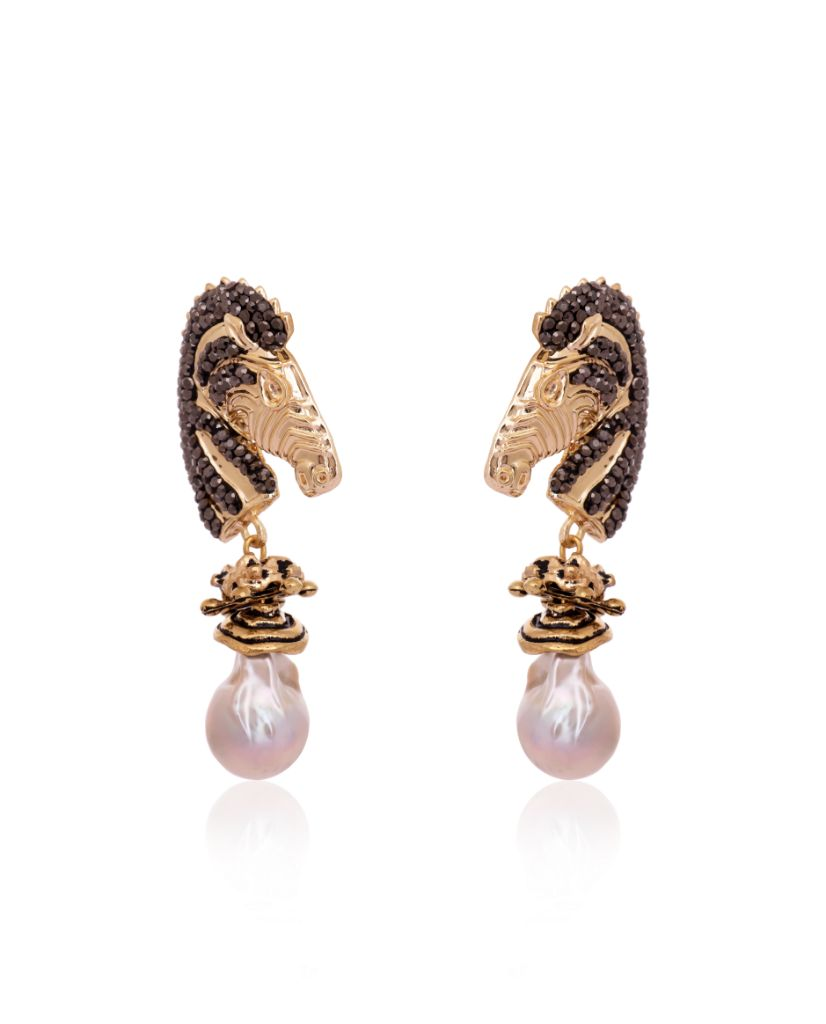 Belgravia Zebra Earrings