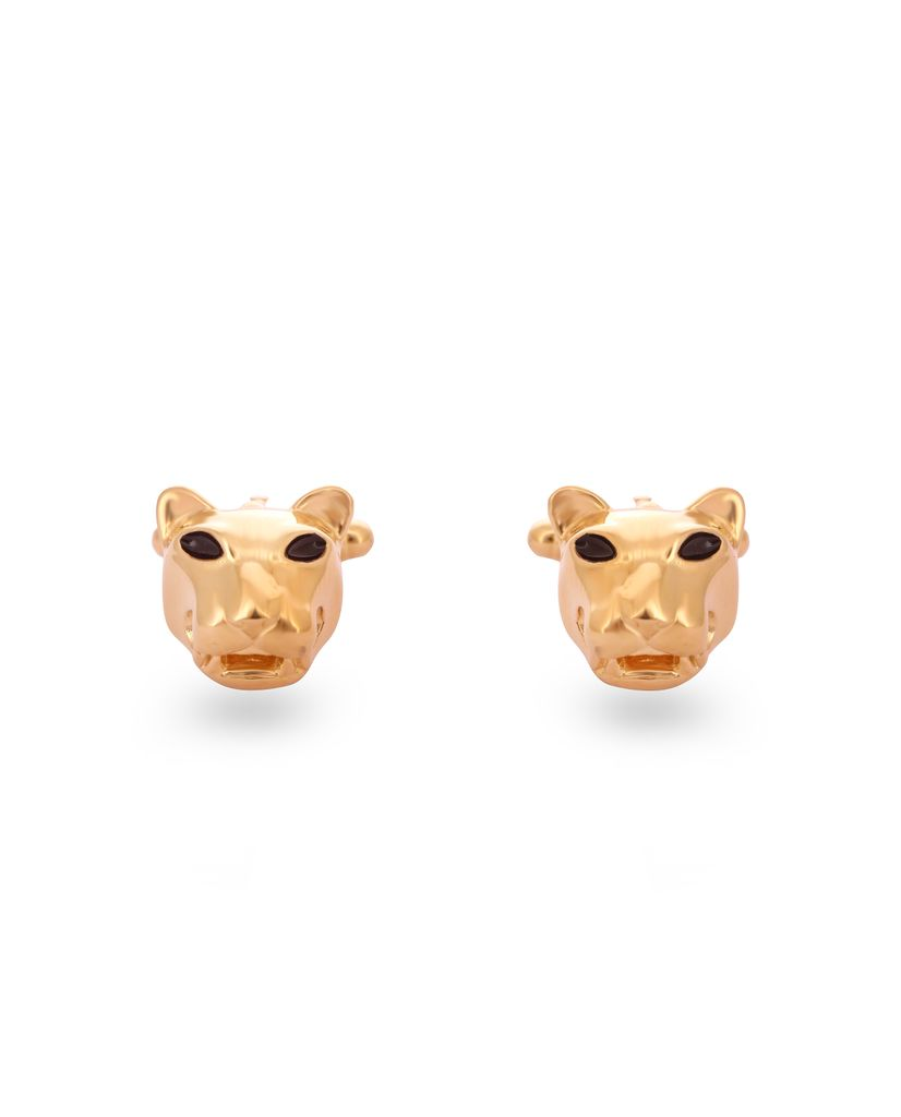 Panther Head Cufflink Set