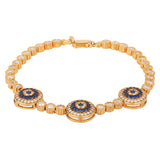Three Eye Tennis Bracelet - BANSRI                                                                 Jewelry Lounge