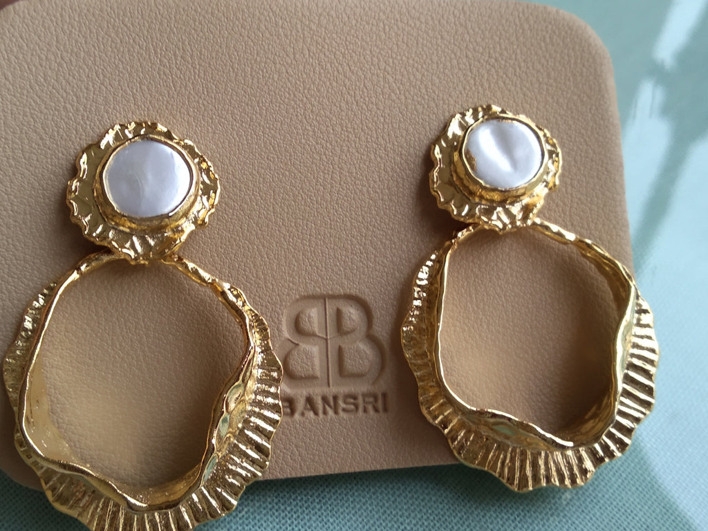 Orico Pearl Hoop Earrings