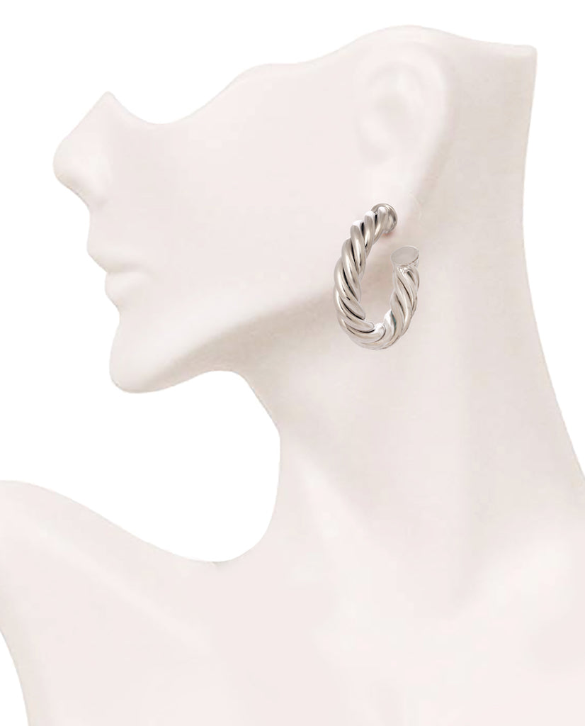 Twisted Tale Earrings - Silver