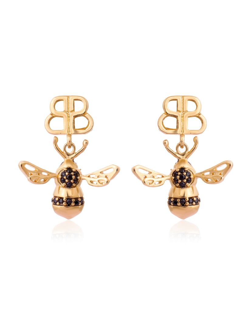 Smitten By The Bee Drop Earrings