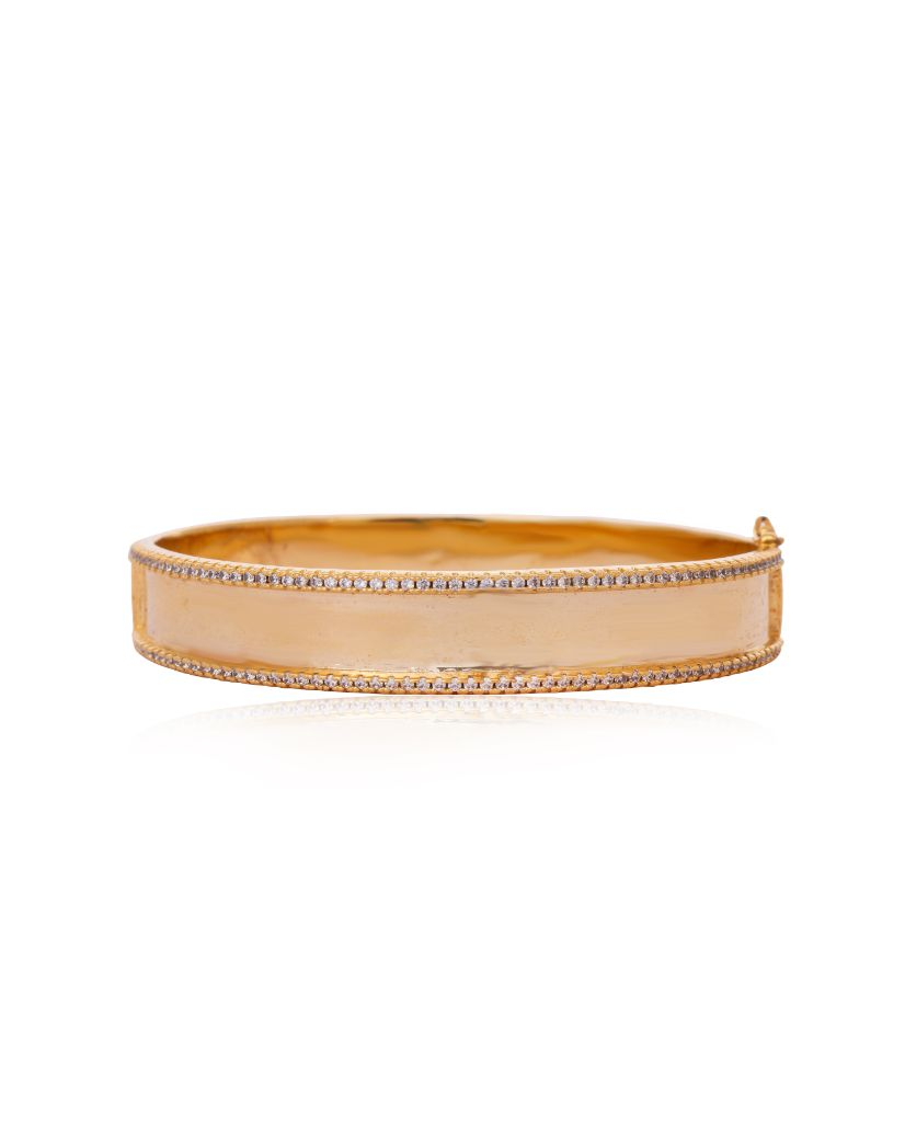 All Gold Bangle Bracelet