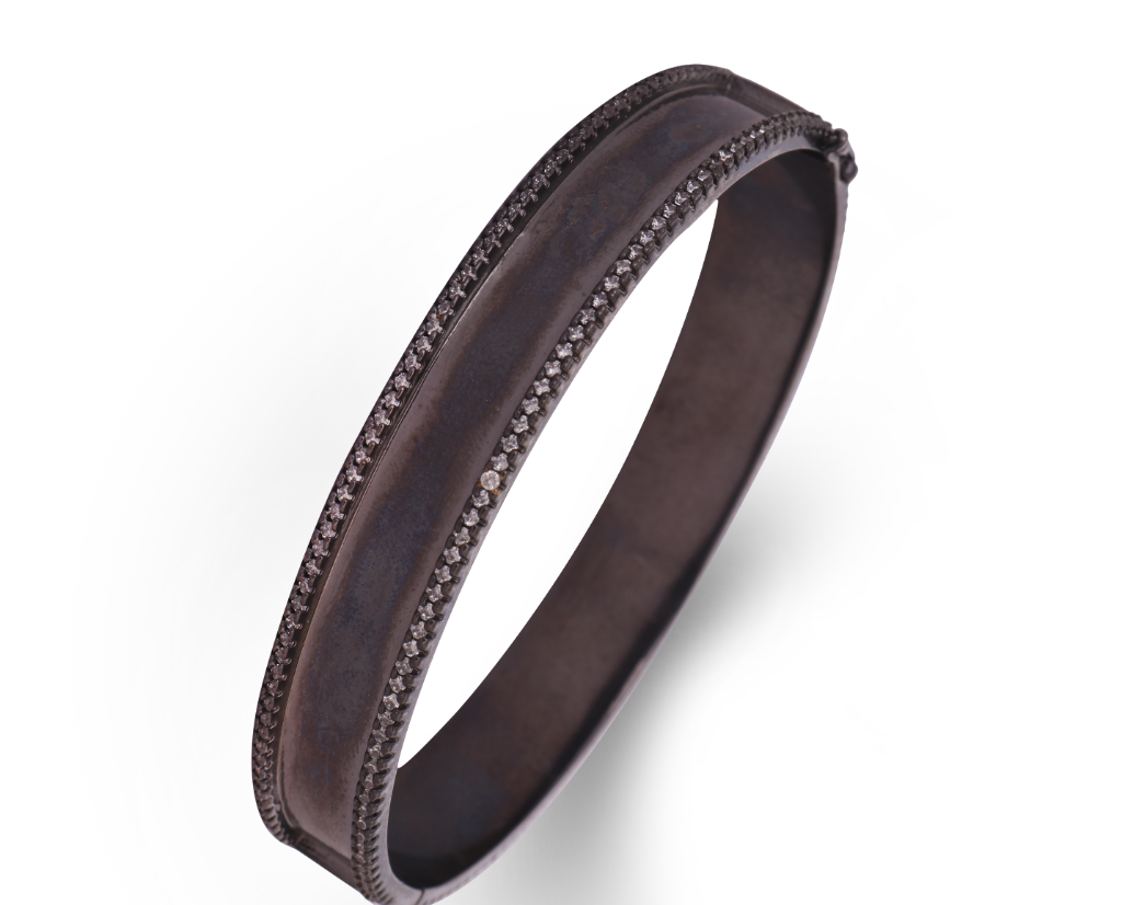 Ruthenium Bangle Bracelet
