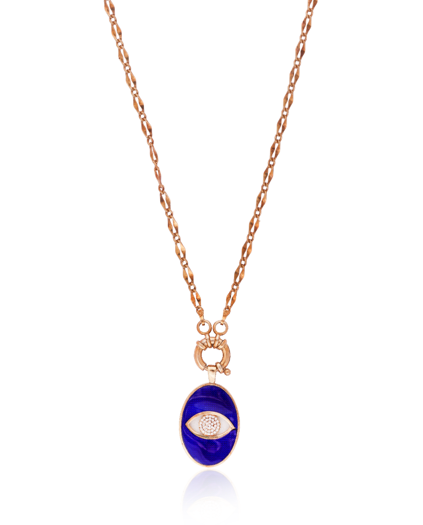 Royal Blue Evil Eye Necklace