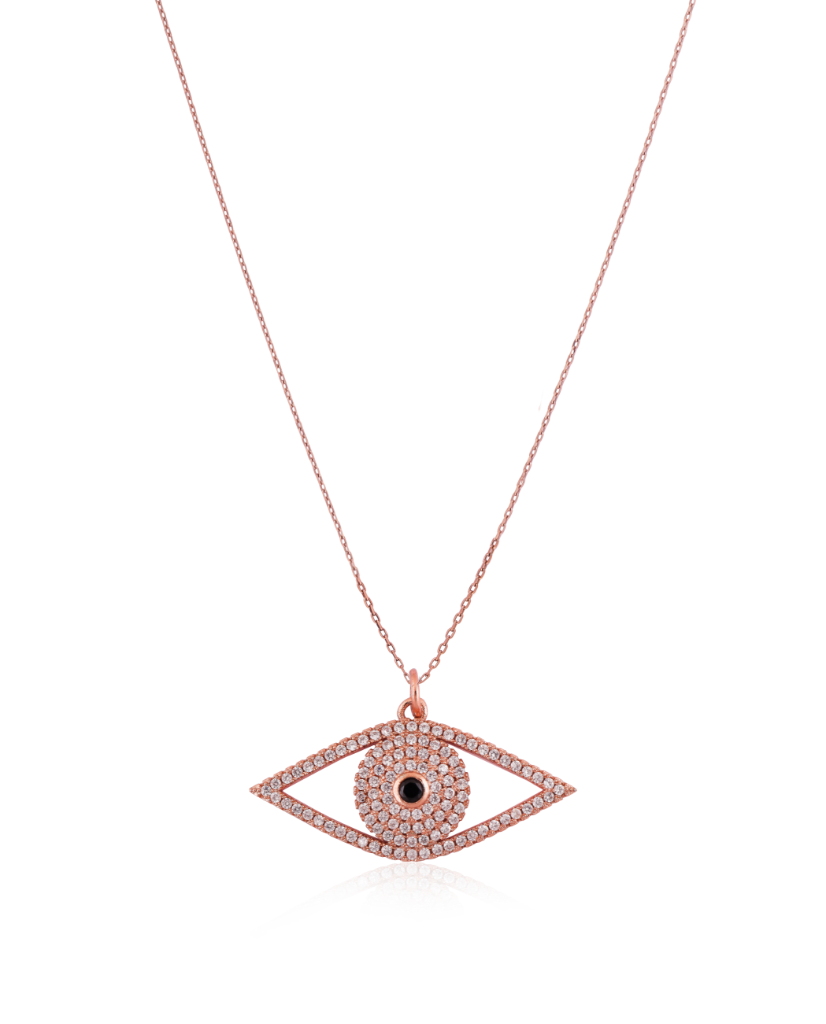 Rosegold Eye Pendant with Swarovski Crystals