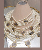 Layered Pearls and Coin Necklace