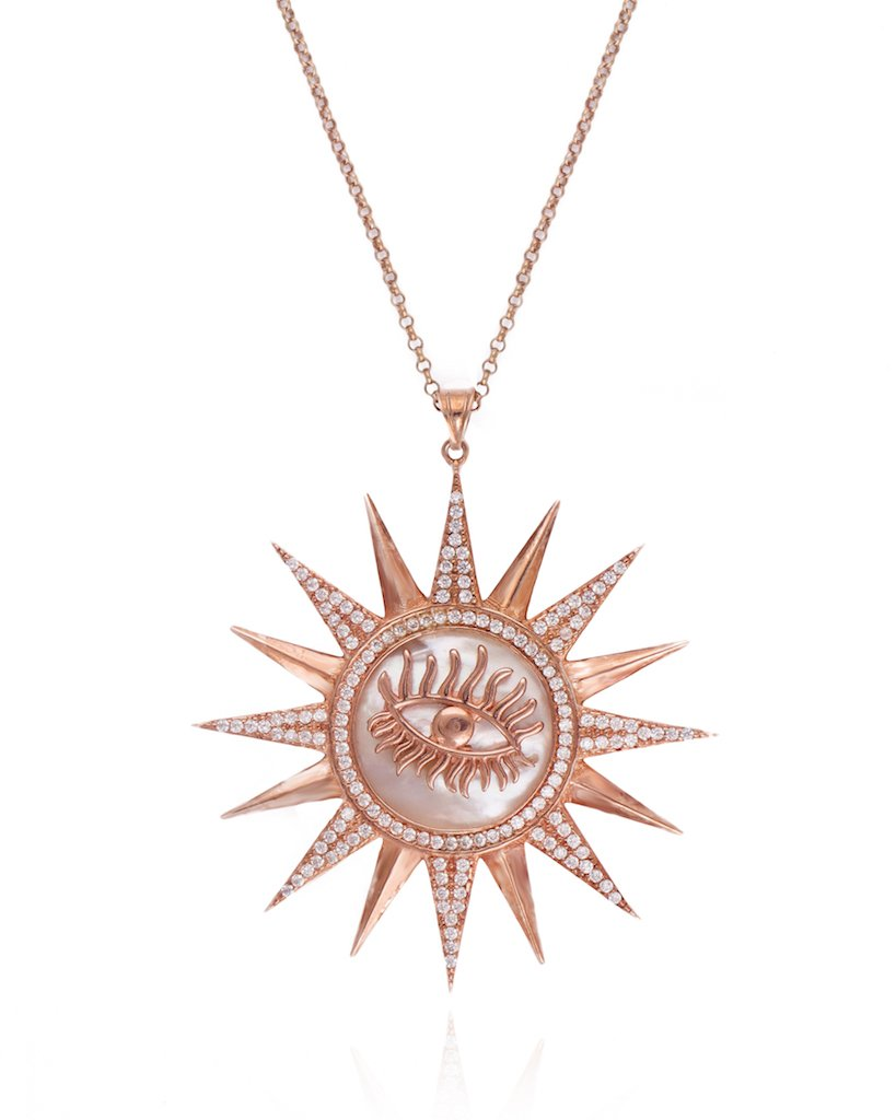 Surreal Sunshine Evil Eye Necklace