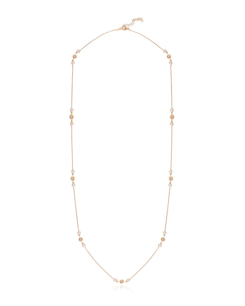 Stars Shine Down Long Wrap Around Chain Necklace