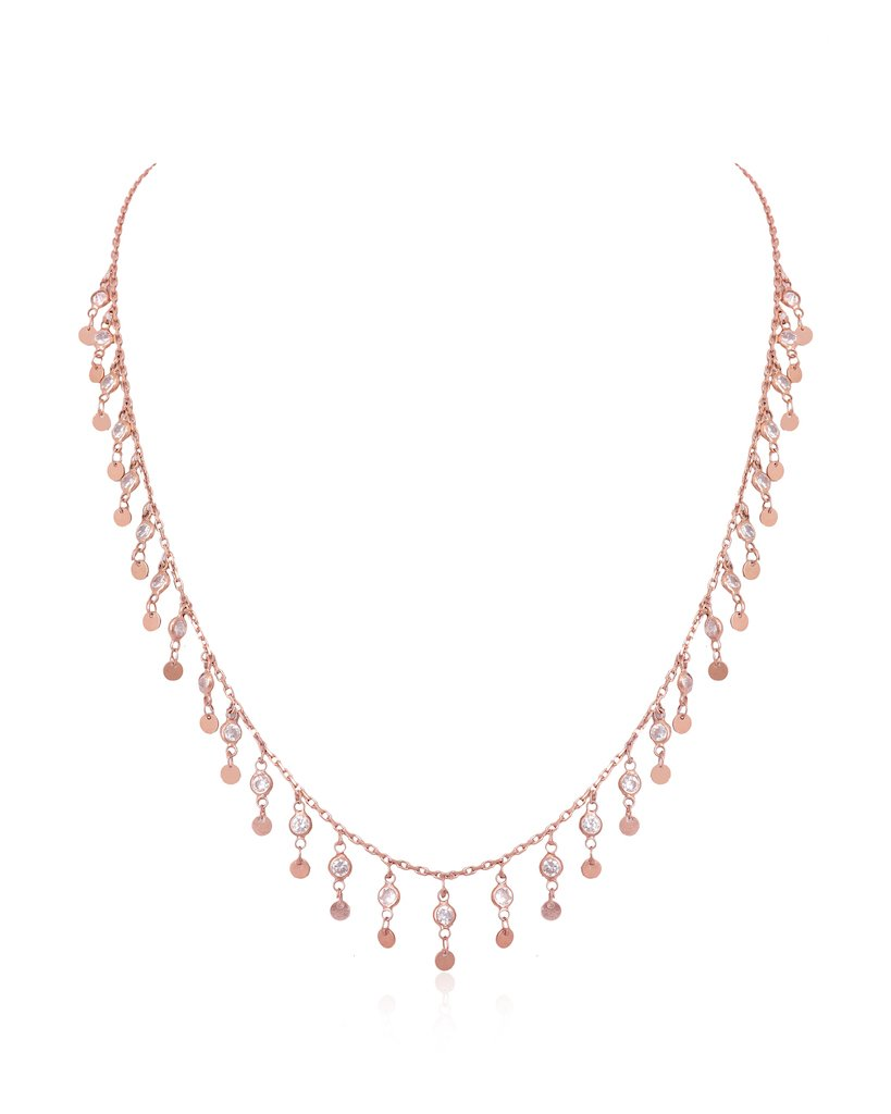 Crystal Sky Collar Chain Necklace