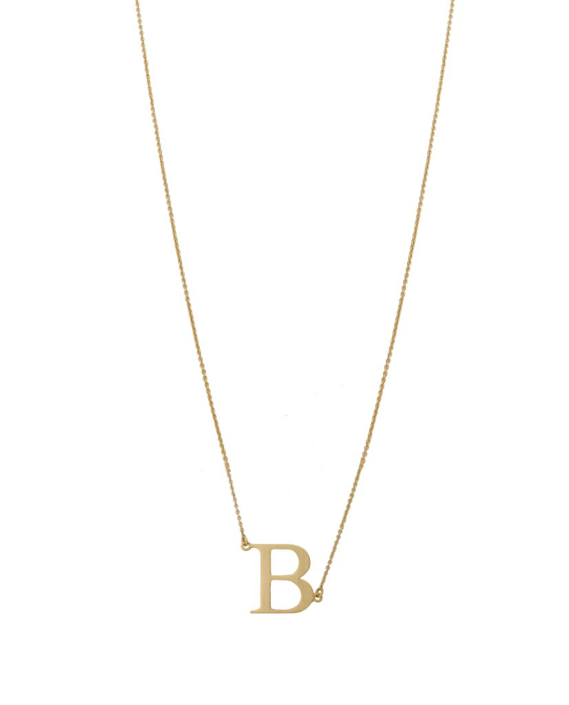 Initial 'B' Necklace