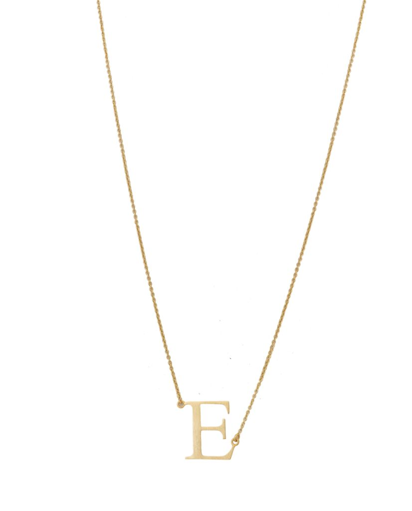 Initial 'E' Necklace