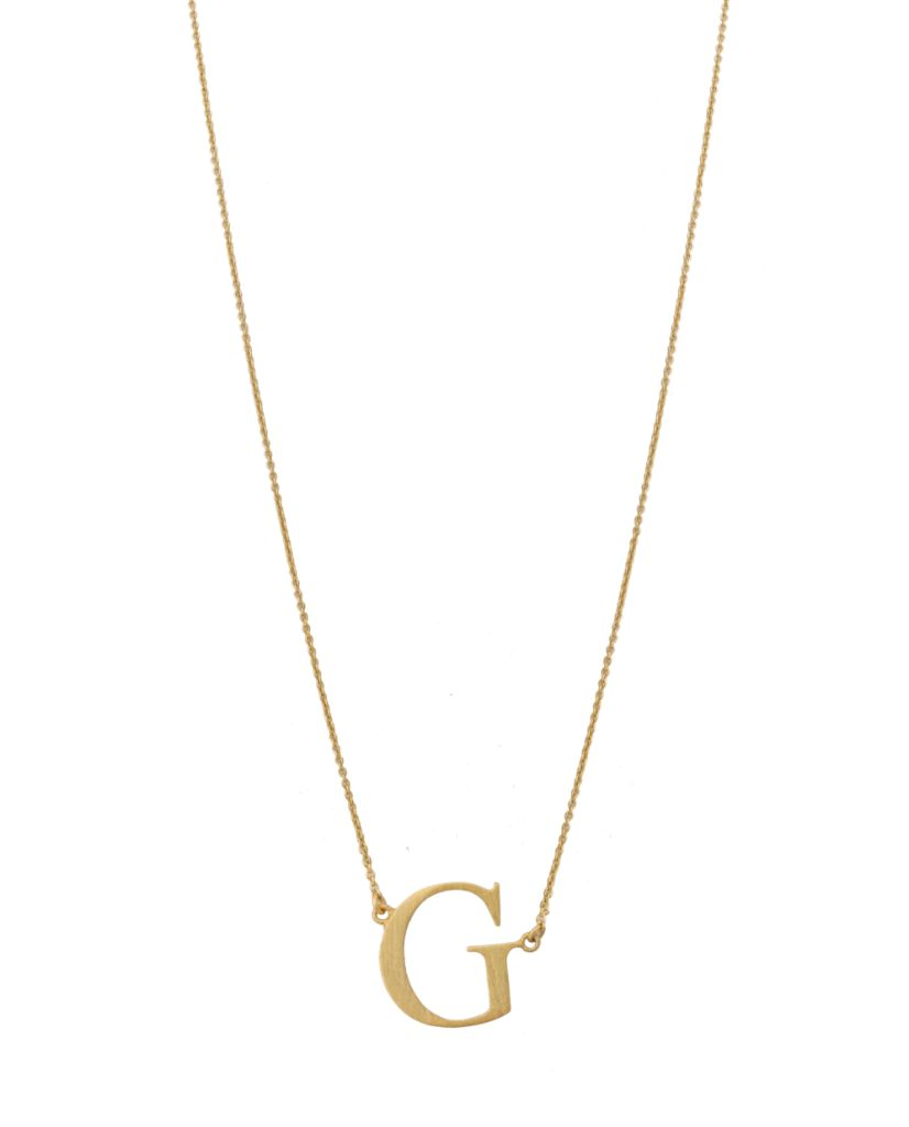 Initial 'G' Necklace