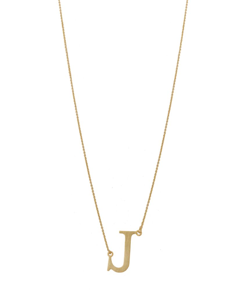 Initial 'J' Necklace